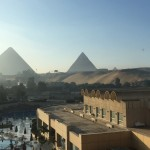 View from our room at the Lé Meridien Hotel in Giza