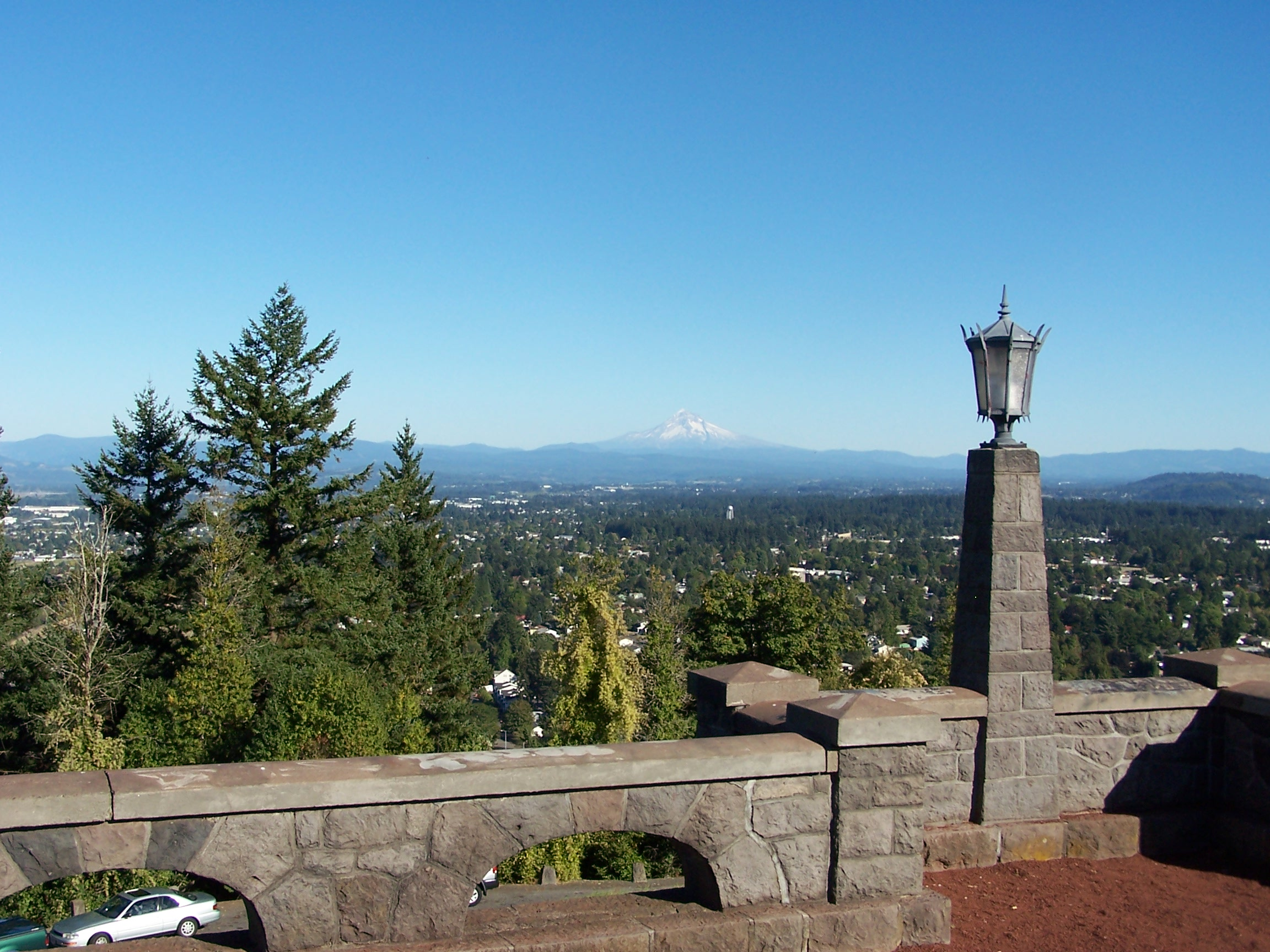 View Looking East From Rocky E Park In Portland Oregon
